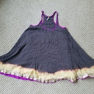 Free People Racerback Purple Bleach Ombre Dress